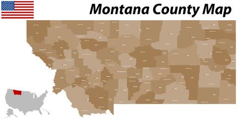 Montana County Karte