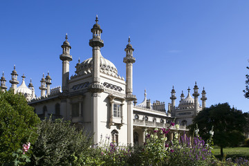 View of the Royal Pavilion in Brighton Sussex