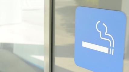 symbol - smoking allowed - sticker on building