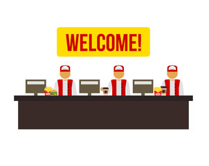 Stock vector cashiers icon illustration