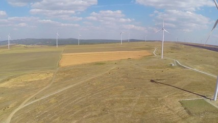 Large wind farm,aerial view