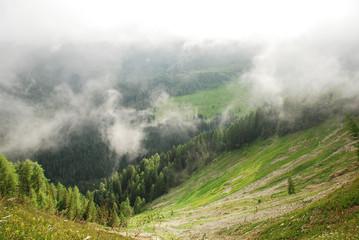 Low Cloud Over Carnic Alps Near Sauris