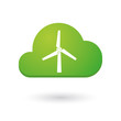 Cloud icon with a wind generator