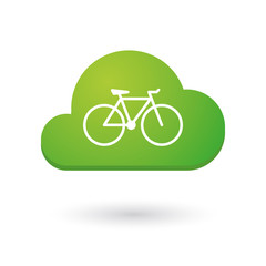 Cloud icon with a bicycle