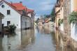 Leinwanddruck Bild - Flooded street