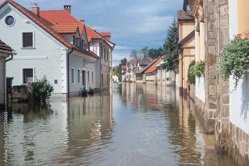 Leinwanddruck Bild Flooded street