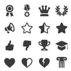 Awards Silhouette icons | EPS10
