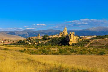The famous Alcazar of Segovia, Castilla y Leon, Spain