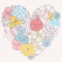 coeur floral