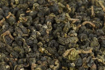 Dry green tea - Stock Image macro.