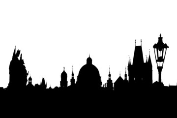 Charles bridge silhouette, Prague, Czech Republic
