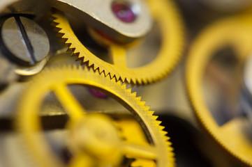 Background with metal cogwheels a clockwork.