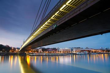 One of the bridges over Danube in Bratislava, Slovakia.