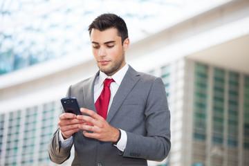 Man using his mobile phone