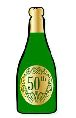 50th Celebration Wine Bottle