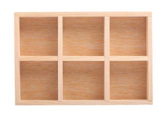wood shelves isolated on white background