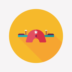 Playground Seesaw flat icon with long shadow