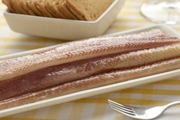 Dish with smoked eel