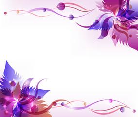 Purple flower vector background