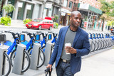 Fototapety Young Man Commuting in New York