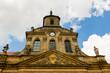 canvas print picture - Alter gotischer Kirchturm mit Uhr und Steinfiguren