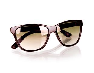 sun glasses on white background