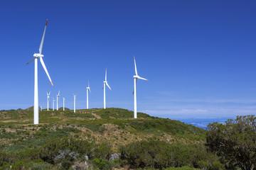 Windpark auf der Insel Madeira, Portugal