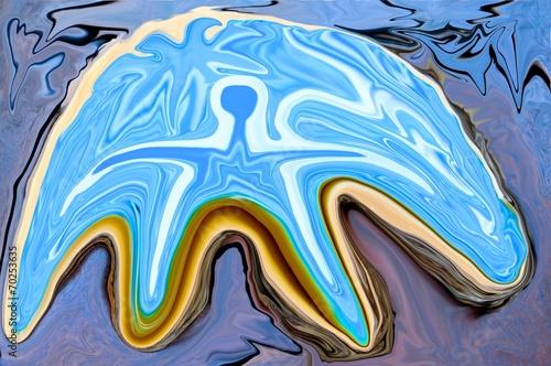canvas print picture Blue Island