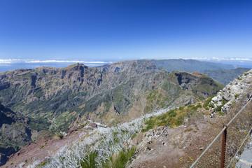 Wandern auf Madeira, Blick auf die Südküste