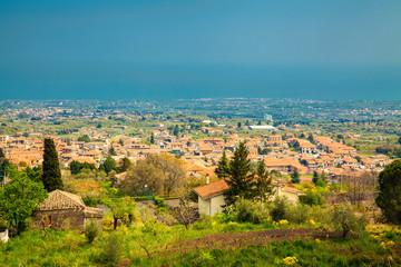 Little town near Etna