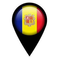 Flag pin illustration - Andorra