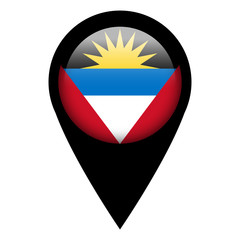 Flag pin illustration - Antigua and Barbuda