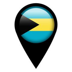 Flag pin illustration - Bahamas