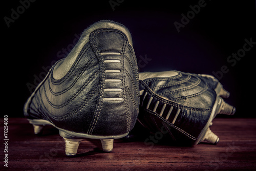 canvas print picture soccer shoes