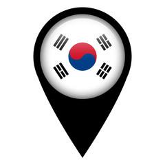 Flag pin illustration - South Korea
