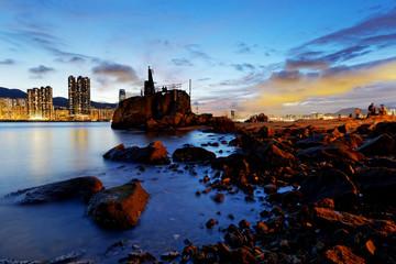 Hong Kong Lei Yue Mun sunset