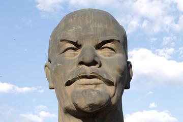 stuatue de la tête de Lénine