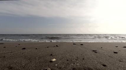 波打ち際の動画
