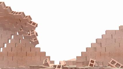 Brick Wall demolished transition
