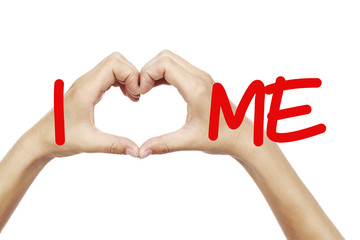I Heart Me Self Improvement Love Message Concept