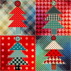 Patchwork with the Christmas tree.