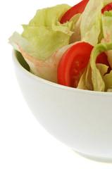 Salade et rondelles de tomate