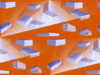 Geometric Interior Design.Illustration Background.
