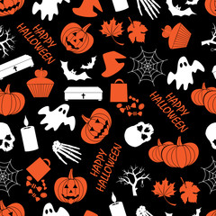 halloween dark seamless pattern eps10