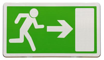 flèche directionnelle d'évacuation en cas de danger
