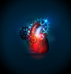 Human heart treatment cocnept