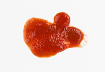 Ketchup blood stains - Stock Image