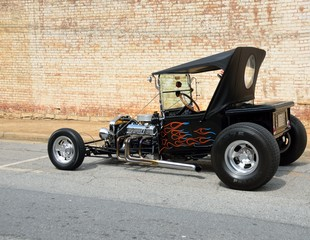 Hot Rod Parked on Street
