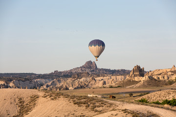 Cappadocia, Turkey., the flight with the balloon at sunrise