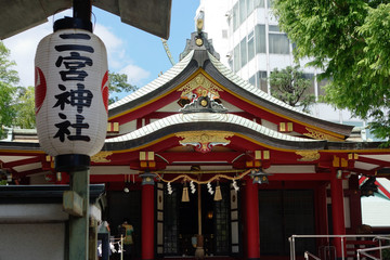 Ninomiya Shinto shrine in JAPAN